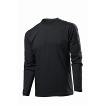 Футболка чоловіча длинный рукав ST 2500, розмір S, колір: чорний