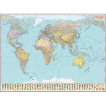 Политическая карта мира офисная 216х158 см