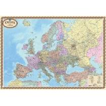 Европа. Политическая карта офисная 158х108 см