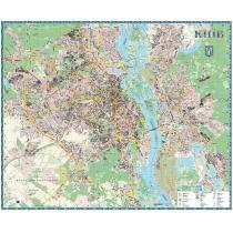 Киев. План города 190х158 см