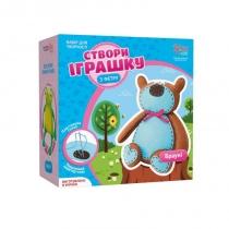 Набор, создай игрушку из фетра, медвежонок Брауни, ROSA KIDS