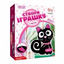 Набор, создай игрушку из фетра, котенок Блэки, ROSA KIDS