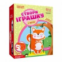 Набор, создай игрушку из фетра, лисенок Смайли, ROSA KIDS
