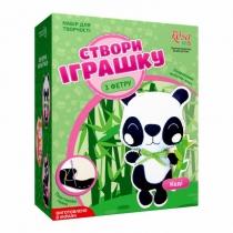 Набір, створи іграшку з фетру, панда Коді, ROSA KIDS