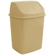 Відро для сміття кремове 18 л