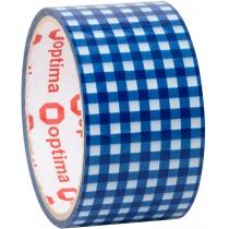Лента клейкая упаковочная 48 мм х 20 м Optima, Tartan синяя