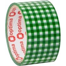 Лента клейкая упаковочная 48 мм х 20 м Optima, Tartan зеленая