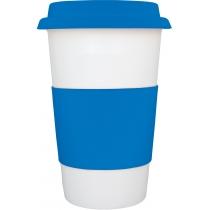 Керамическая чашка CREMA Optima Promo 400 мл, синяя