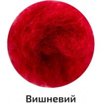 Шерсть для валяния кардочесана, Вишневый, 10г, ROSA TALENT