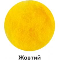 Шерсть для валяния кардочесана, Желтый, 10г, ROSA TALENT