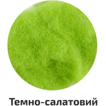 Шерсть для валяния кардочесана, Темно-салатовый, 10г, ROSA TALENT