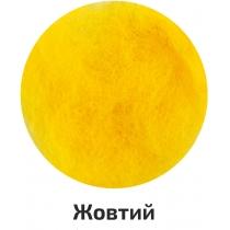 Шерсть для валяния кардочесана, Желтый, 40г, ROSA TALENT