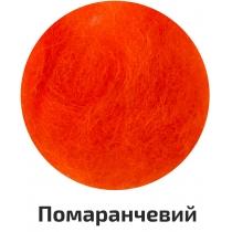 Шерсть для валяния кардочесана, Оранжевый, 40г, ROSA TALENT