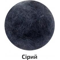 Шерсть для валяния кардочесана, Серый, 40г, ROSA TALENT