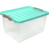 Бокс для хранения Clipbox Light 31 л, крышка цвет ассорти