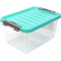 Бокс для хранения Clipbox Light 8 л, крышка цвет ассорти