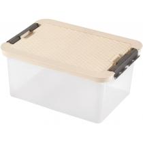 Бокс для хранения R-Box 14 л, крышка цвет ассорти