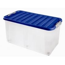 Бокс для хранения на колесах Clipbox 100 л, крышка синяя