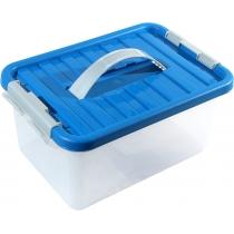Бокс для хранения с ручкой Clipbox 8 л, крышка синяя
