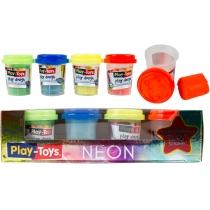 Масса для творчества Neon ассорти 4 цвета по 50 г