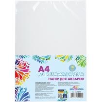 Бумага для акварели А4, 10 листов, 200 г / м2, в п / п пакете