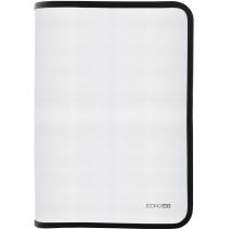Папка-пенал пластиковая на блискавци Economix А4, прозрачная, фактура: ткань, молния черная