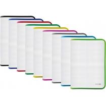 Папка-пенал пластиковая на молнии Economix А4, прозрачная, фактура: ткань, молния ассорти