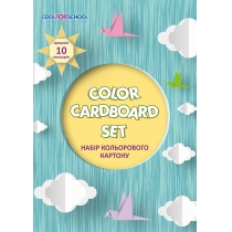 "Набор цветного картона А4, 10 л., ""CFS"""