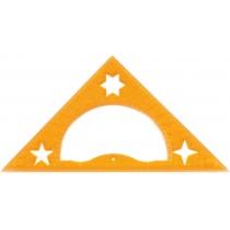 Трикутник 15 см. (45*90*45) з транспортиром