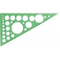 Треугольник 20 см. (60 *90*30) с окружностями
