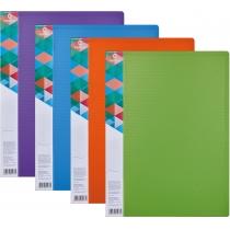 Папка А4 с 20 файлами Optima двухцветная, ассорти