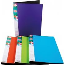 Папка А4 с 30 файлами Optima двухцветная, ассорти