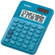 Калькулятор настольный Casio, 10 разрядов, голубой, размер 120*85.5*19.4 мм