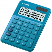Калькулятор настольный Casio, 12 разрядов, голубой, размер 149.5*105*22.8 мм