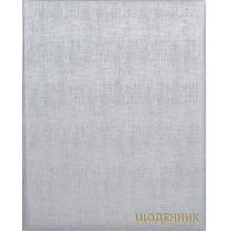 Дневник школьный, 165х210 мм, обложка - мягкая, 48 л., цвет серебристый