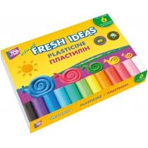 Пластилін-олівець 6 кольорів, 135 г