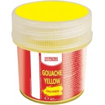 Гуашь цветная, 40 мл, желтая