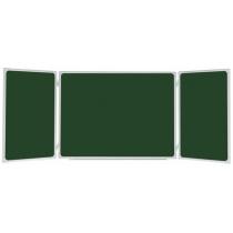 Доска-триптих магнитная для мела, 100x200/400 см