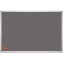 Доска текстильная серая, металлическая сетка рамка черная, 45x60 см