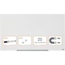 Дошка Nobo Diamond скляна магнітно-маркерна 126x71,1 см, колір білий  (квадратні кути)