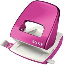 Дырокол металлический Leitz New NeXXt WOW, 30 листов, цвет розовый металлик