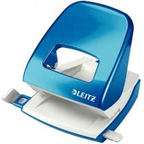 Дырокол металлический Leitz New NeXXt WOW, 30 листов, цвет синий металлик