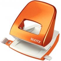 Дырокол металлический Leitz New NeXXt WOW, 30 листов, цвет оранжевий металлик
