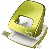 Дырокол металлический Leitz New NeXXt WOW, 30 листов, цвет зеленый металлик