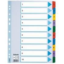 Разделители Esselte картонные, Mylar, А4 1-10