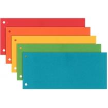 Картонные разделители-закладки Esselte, ассорти, (5 цв по 20 шт), 100 штук