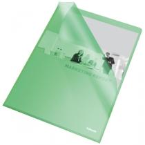 Папка-уголок Esselte Standard A4 PP 115мкм  25шт. Зеленая
