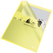 Папка-уголок Esselte, РР, А4 115мкм, 25 шт, Желтая