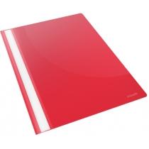 Скоросшиватель пластиковый Esselte VIVIDA А4, красный, 25 штук