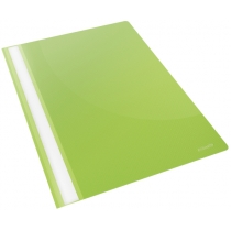 Скоросшиватель пластиковый Esselte VIVIDA А4, зеленый, 25 штук